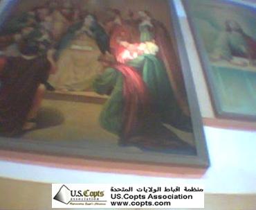 صور التجليات النورانية للعذراء مريم في أسيوط