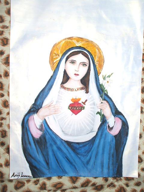 جديد من رسوماتي...السيدة مريم العذراء...