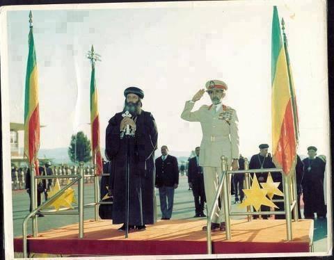 صوره نادره ..... الأمبراطور هيلاسلاسي أمبراطور أثيوبيا أستقبال قداسة البابا شنودة