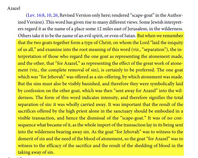 الرد على شبهة: من تعاليم الكتاب المقدس , تقديم القرابين للشيطان !!